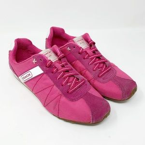 Coach Renata pink and white sneakers SH2